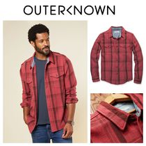 【Outer known】大人気!BLANKET シャツ− Dusty Red Cusco