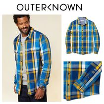 Outer known(アウターノウン) シャツ 【Outer known】大人気!BLANKET シャツ−Surf Mav Plaid