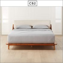 Queen《CB2》DROMMEN ACACIA WOOD BED ベッドフレーム