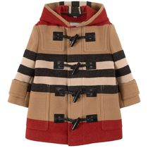 Burberry(バーバリー) キッズアウター 2021AW BURBERRY KIDS BExRED ICONダッフルコート (B-10Y)