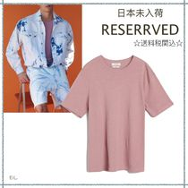 RESERVED(リザーブド) Tシャツ・カットソー 【海外限定】関税込み☆RESERVED Linen blend T-shirt