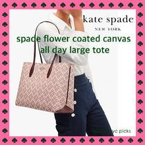 *KATE SPADE spade flower coated canvas all day large tote