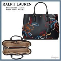 Ralph Lauren★Embroidered Large Marcy Satchel