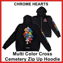 Chrome Hearts Multi Color Cross Cemetery Zip Up Hoodie