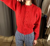 """& Other Stories(アンドアザーストーリーズ) カーディガン """"& Other Stories""""新作☆Cable Knit Cardigan(red)"""