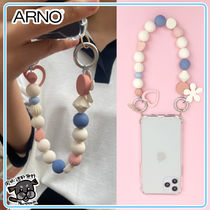 【ARNO】beads strap iPhone Galaxy Case (Cotton Candy)