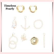 TIMELESS PEARLY◆sale☆チャーム付きフープピアス