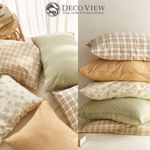 DECO VIEW(デコヴュー) クッション・クッションカバー ★DECO VIEW★送料込★韓国★DELIGHT FLOWER CHECK PILLOW COVER