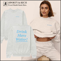 Sporty&Rich - Drink Water クルーネック スウェット *関税込