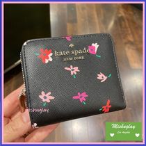 【kate spade】素敵なお花柄♪ staci small wallet ★ 折財布 ★