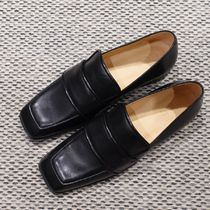 """""""COS"""" SQUARE-TOE LEATHER LOAFERS BLACK"""