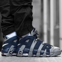 Nike AIR MORE UPTEMPO COOL GREY AND MIDNIGHT NAVY モアテン
