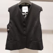 """""""COS"""" CROPPED SINGLE-BREASTED WAISTCOAT BLACK"""