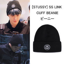 STUSSY(ステューシー) ニットキャップ・ビーニー STUSSY NCT ジェヒョン 着用 SS LINK CUFF BEANIE 韓国 ビーニー