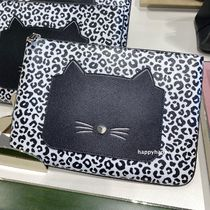 【kate spade】日本未入荷*meow cat large zip pouch