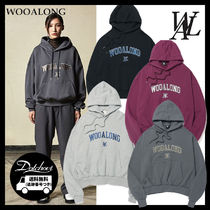 WOOALONG(ウアロン) パーカー・フーディ WOOALONG Wow fit arch embroidery logo hoodie LM651