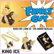 King Ice(キングアイス) ネックレス・ペンダント 送税込【FAMILY GUY x KING ICE】EVIL MONKEY NECKLACE ♪国内発