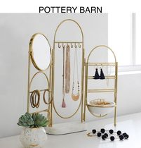 ★POTTERY BARN★Marble and Gold Jewelry Holder Screen