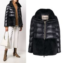HERNO Cape Nylon Ultralight And Faux Fur Down Jacket