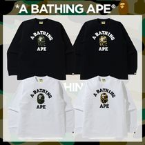 A BATHING APE(アベイシングエイプ) Tシャツ・カットソー 国内発送*《A BATHING APE》1ST CAMO COLLEGE L/S TEE 全4色