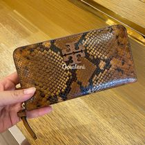[TORY BURCH] 長財布 スネーク柄 THEA EMB EXT MULTI GUSSET