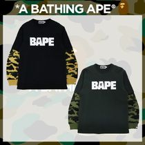 A BATHING APE(アベイシングエイプ) Tシャツ・カットソー 国内発送*《A BATHING APE》1ST CAMO LAYERED L/S TEE 全2色
