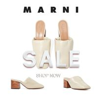 MARNI  パンプス ミュール Bunched Detail Heeled Mule