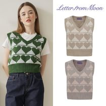 【Letter from Moon】kitch heart wool VEST
