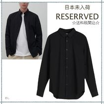 RESERVED(リザーブド) シャツ 【海外限定】関税込み☆RESERVED メンズ コットン スリム シャツ