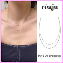 【roaju】Daily 2 Line Bling Necklace〜ネックレス★日本未入荷