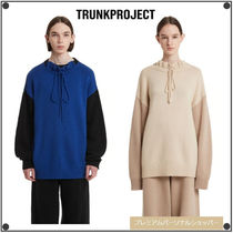 TRUNK PROJECTのRuffled Neck Knit Sweater 全2色