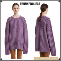 TRUNK PROJECTのCable Stripe Knit Sweater