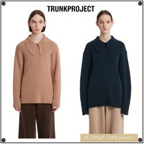 TRUNK PROJECTのScarf Knit Sweater 全2色