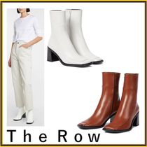 【THE ROW】Patch leather ankle boots レザーアンクルブーツ