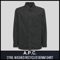 [A.P.C.] CYRIL WASHED RECYCLED DENIM SHIRT (送料関税込み)