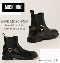 CUTE *MOSCHINO * Love Moschino leather ankle boot ブーツ