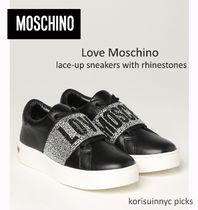 *MOSCHINO*Love Moschino lace-up sneakers with rhinestones