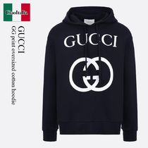 Gucci GG print oversized cotton hoodie