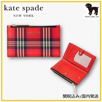spencer foliage plaid small slim bifold wallet◆国内発送◆