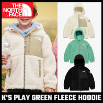 【THE NORTH FACE】大人もOK! K'S PLAY GREEN FLEECE HOODIE