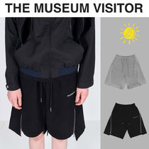 THE MUSEUM VISITOR(ザミュージアムビジター) ハーフ・ショートパンツ [THE MUSEUM VISITOR] VISITOR CUT-OUT ZIPPER SHORTS★パンツ