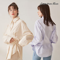 [LETTER FROM MOON] French Wrap シャツ