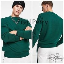 【FRED PERRY】ロゴ クルーネック スウェット Green / 送関込