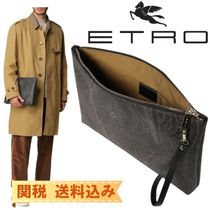 【ETRO】 clutch bag in jacquard paisley fabric