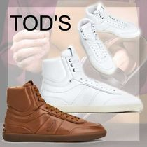 TOD'S直営店◆トッズ タブ レザー ハイトップ スニーカー 2色