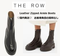 【The Row】Zipped Ankle Boots レザージッパーアンクルブーツ