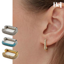 [Hei] stone one touch earring イヤリング ピアス/BTS RM着用
