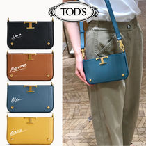TOD'S(トッズ) ショルダーバッグ・ポシェット 21AW新作【TOD'S】トッズ T タイムレス◆フォンケース◆レザー