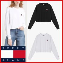 ◆Tommy Jeans◆ハートロゴ クロップ 長袖 Tシャツ◆正規品◆