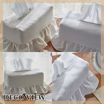 DECO VIEW【送料込】人気☆2色*WASHING FRILL TISSUE COVER
